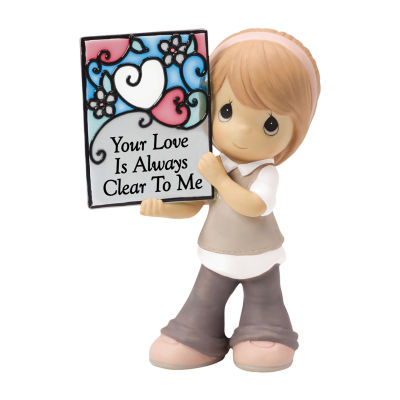 "Precious Moments  ""Your Love Is Always Clear ToMe"" Bisque Porcelain Figurine"