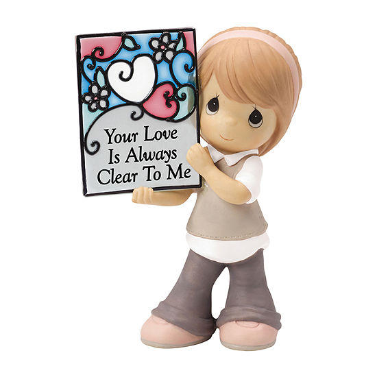 """Precious Moments  """"Your Love Is Always Clear ToMe"""" Bisque Porcelain Figurine"""