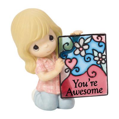 "Precious Moments ""You're Awesome"" Bisque Porcelain Figurine"