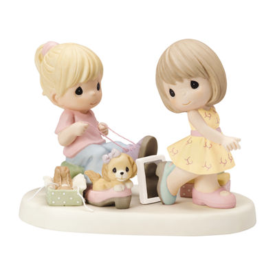 "Precious Moments ""Sole Sisters"" Bisque Porcelain Figurine"