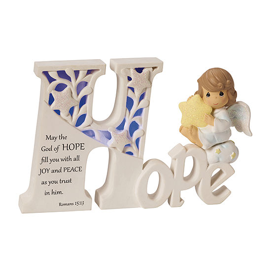 "Precious Moments ""Hope"" LED Angel  Resin Collectible Sculpture"