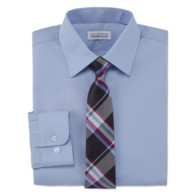Collection By Michael Strahan Shirt + Tie Set -8-20-Reg and Husky