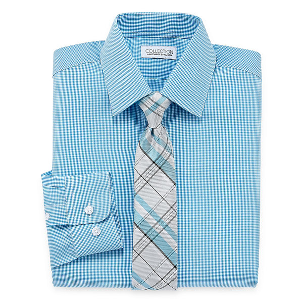 Collection by Michael Strahan  Shirt + Tie Set -Boys 8-20-Reg and Husky