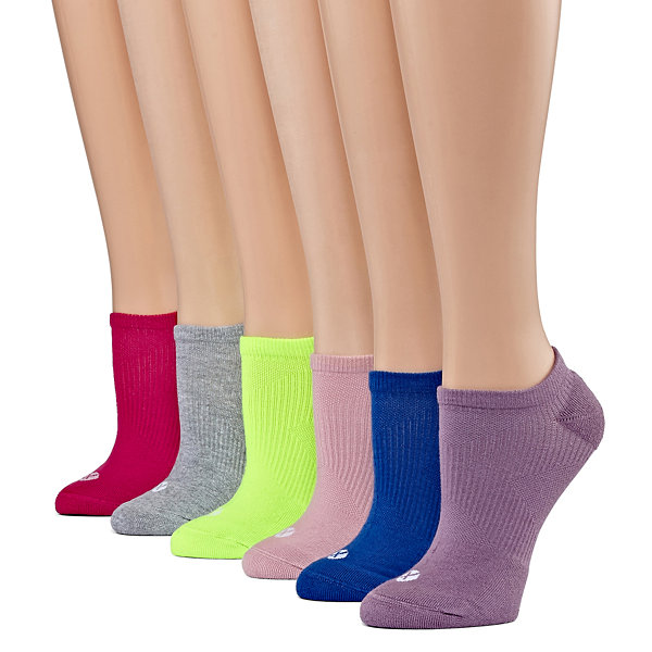 Xersion 6 Pair No Show Socks - Extended Size