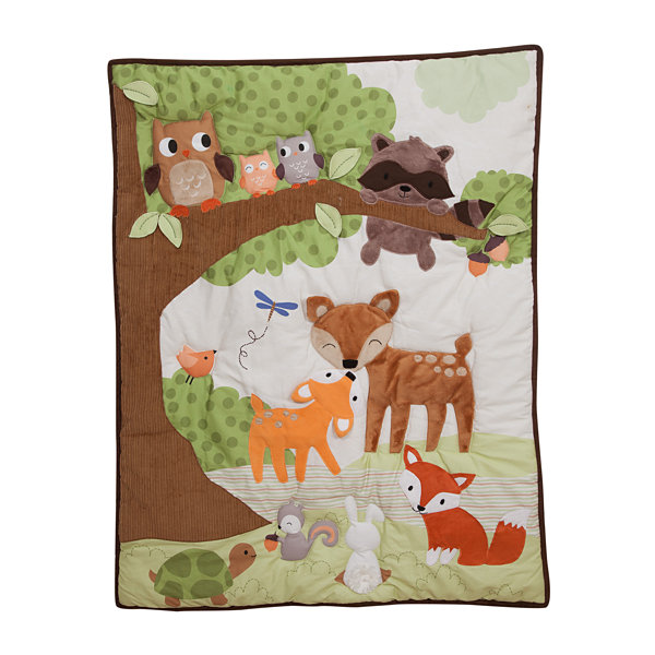 Lambs & Ivy Woodland Tales Forest Animal 4-pc. Animals + Insects Crib Bedding Set