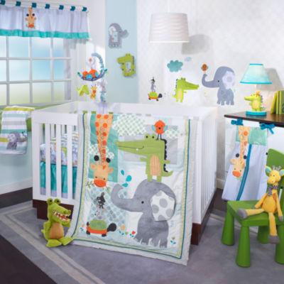 Lambs & Ivy Yoo Hoo 4-pc. Crib Bedding Set