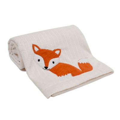 Lambs & Ivy Woodland Tales White Fox Animal Blanket - Unisex