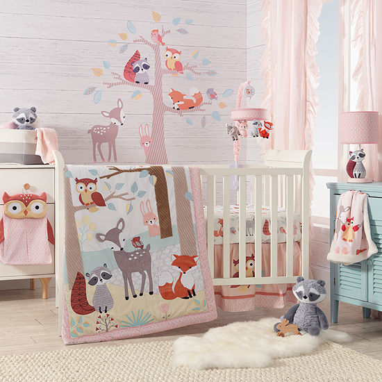 Lambs Ivy Little Woodland Forest Animal 4 Pc Crib Bedding Set