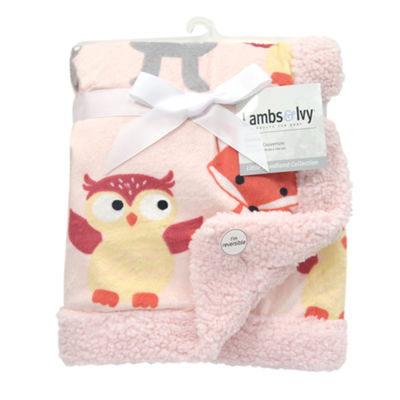 Lambs & Ivy Little Woodland Forest Animal Animal Blanket - Girls