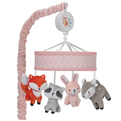 Lambs & Ivy Little Woodland Forest Animal Musical Baby Mobile