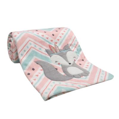 Lambs & Ivy Little Spirit Chevron Blanket - Girls