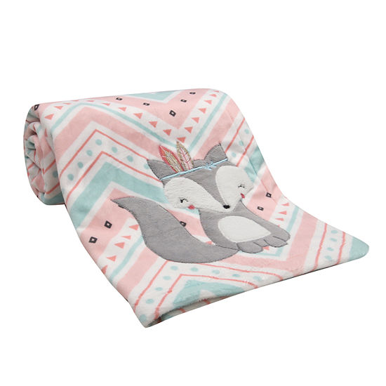 Lambs Ivy Little Spirit Chevron Blanket Girls