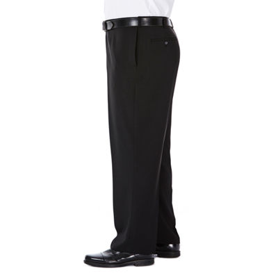 Haggar Classic Fit Flat Front Pants-Big and Tall