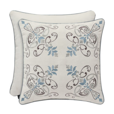 J. Queen New York™ Garrison 18 Inch Embroidery Square Throw Pillow