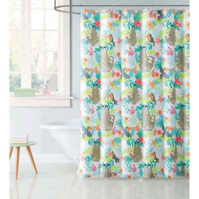 Laura Hart Kids Hanging Out Shower Curtain