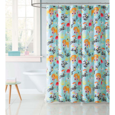 Laura Hart Kids Party Animals Shower Curtain