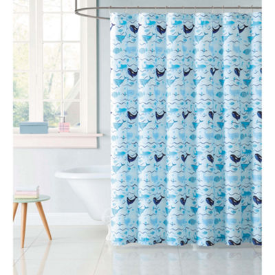 Laura Hart Kids Deep Blue Sea Shower Curtain