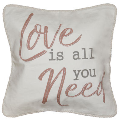 Love Is All You Need Square Throw Pillow