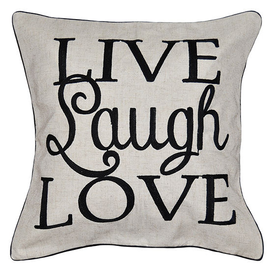 Live Laugh Square Throw Pillow