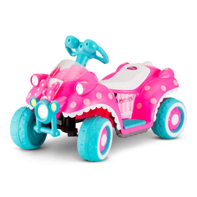 Kid Trax Disney Minnie Mouse Hot Rod 6 Volt Toddler Quad Electric Ride-on