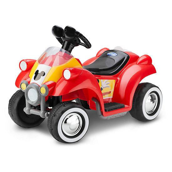 Kid Trax Disney Mickey Mouse Hot Rod 6 Volt Toddler Quad Electric Ride-on