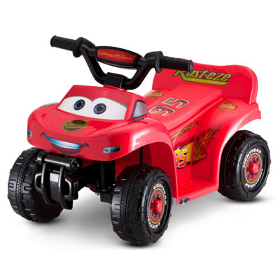 Kid Trax Disney Pixar Cars 3 Lightning McQueen 6 Volt Toddler Quad Electric Ride-on