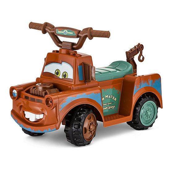 Kid Trax Disney Pixar Cars 3 Tow Mater 6 Volt Toddler Quad Electric Ride On Jcpenney