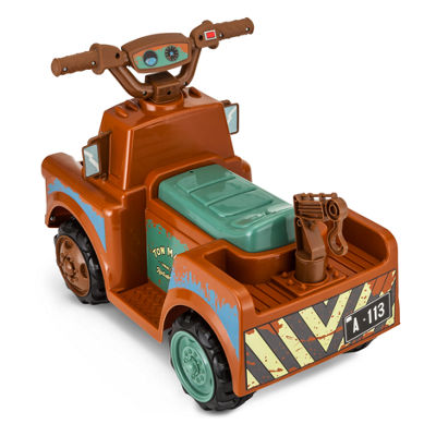 Kid Trax Disney Pixar Cars 3 Tow Mater 6 Volt Toddler Quad Electric Ride-on