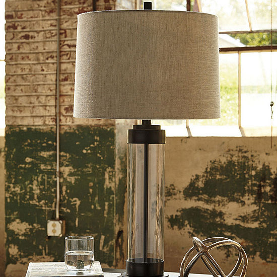 Signature Design by Ashley Glass Table Lamp