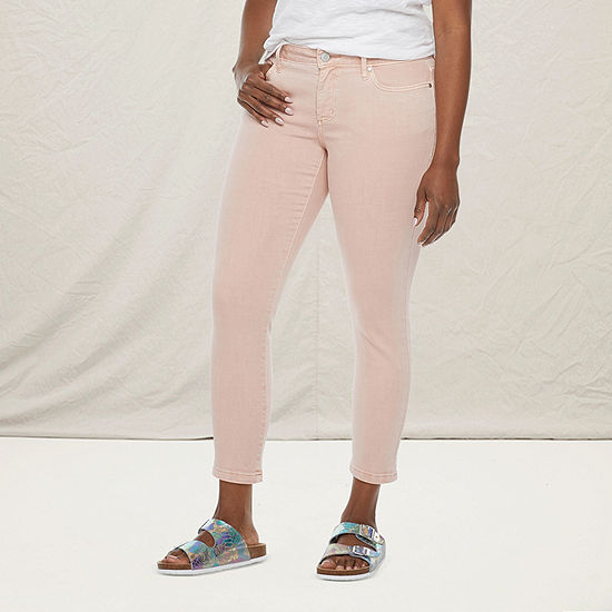 a.n.a-Tall Womens Mid Rise Skinny Ankle Jean
