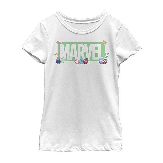 Easter Brick Logo Little Kid / Big Kid Girls Short Sleeve Marvel T-Shirt