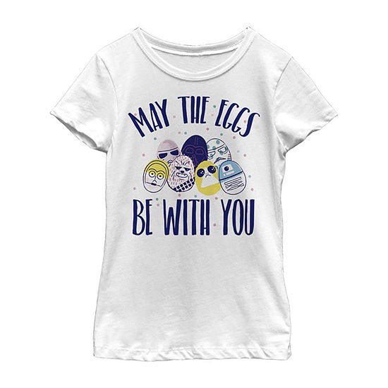 Easter May The Eggs Be With You Little Kid / Big Kid Girls Short Sleeve Star Wars T-Shirt