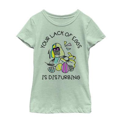 Easter Darth Vader Your Lack Of Eggs Is Disturbing Little Kid / Big Kid Girls Short Sleeve Star Wars T-Shirt