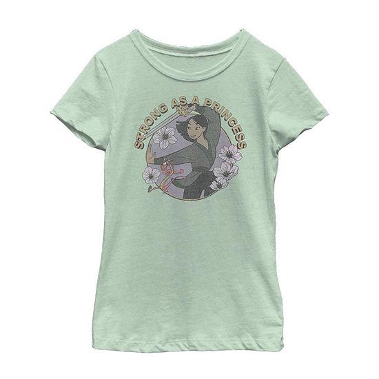 Strong As A Princess Little/ Big Kid Girls Short Sleeve T-Shirt