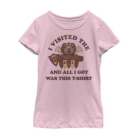Disney Pixar Onward I Visited The Manticore's Tavern Little/ Big Kid Girls Short Sleeve T-Shirt