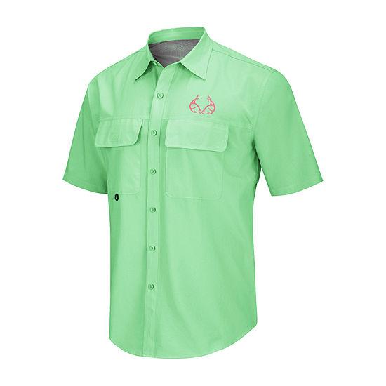 Realtree Mens Short Sleeve Button-Down Shirt