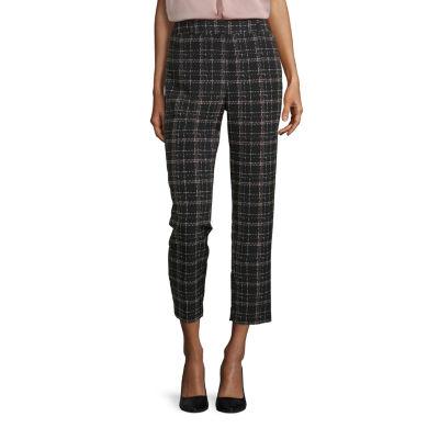 Liz Claiborne Womens Mid Rise Regular Fit Ankle Pant