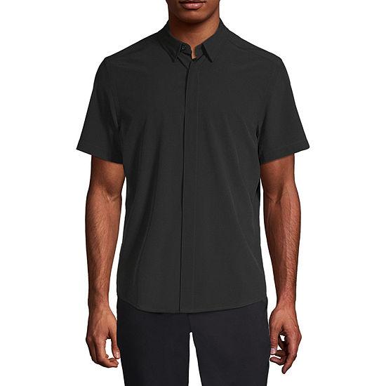 Msx By Michael Strahan Mens Short Sleeve Button-Down Shirt