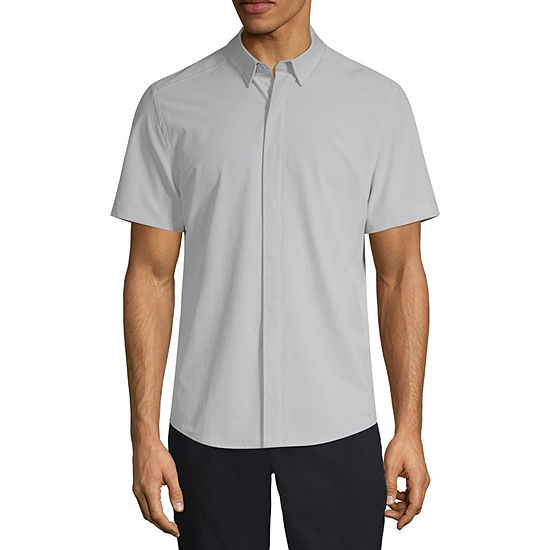 Msx By Michael Strahan Mens Short Sleeve Button-Down Shirt