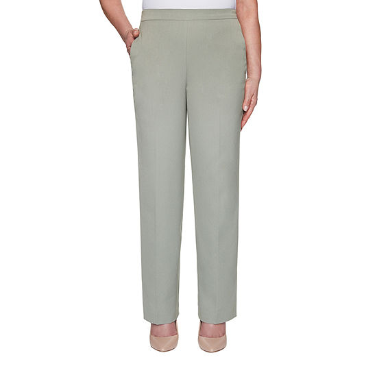 Alfred Dunner Chesapeake Bay Womens Straight Pull-On Pants