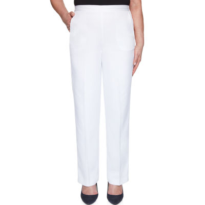 Alfred Dunner Ship Shape Womens Straight Pull-On Pants