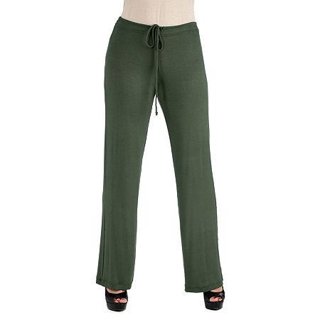 24/7 Comfort Apparel Comfortable Drawstring Lounge Pants, Small , Green