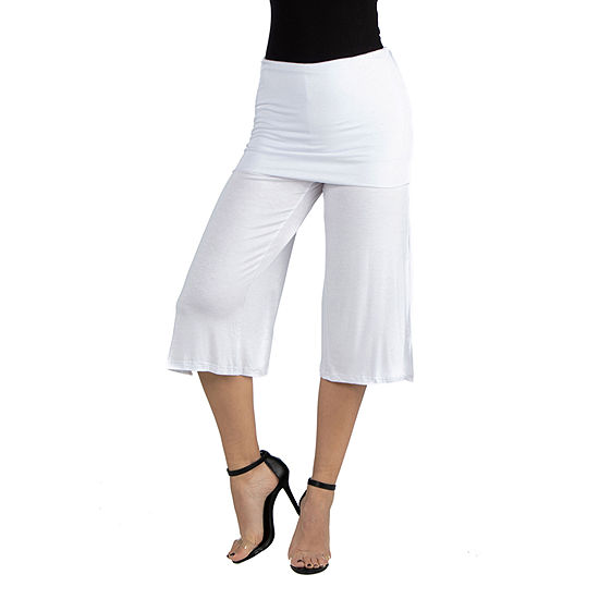 24/7 Comfort Apparel Cropped Elastic Straight Pant