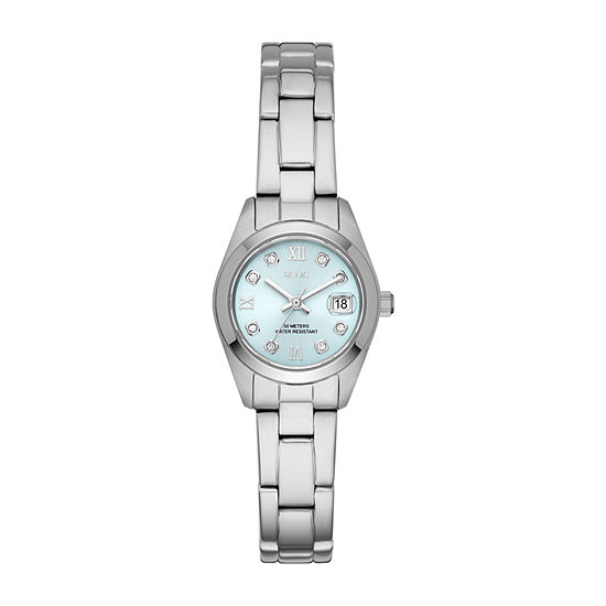 Relic By Fossil Tyla Womens Crystal Accent Silver Tone Stainless Steel Bracelet Watch-Zr12617