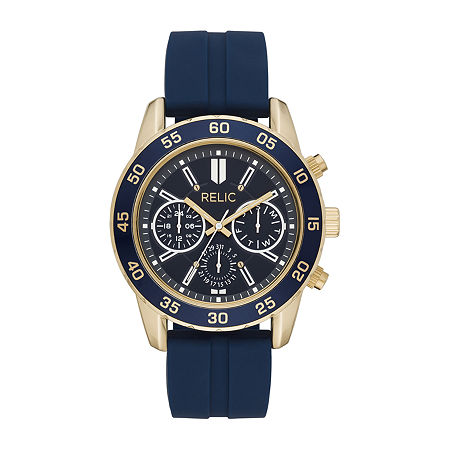 Relic By Fossil Charley Mens Multi-Function Blue Strap Watch-Zr12625, One Size