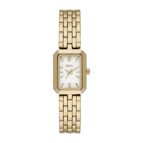 Relic By Fossil Tinsley Womens Gold Tone Bracelet Watch - Zr34602