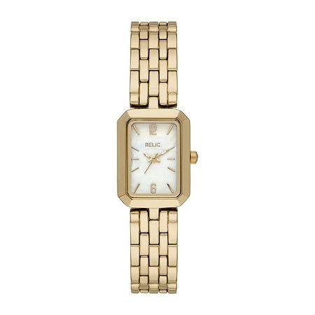 Relic By Fossil Tinsley Womens Gold Tone Bracelet Watch - Zr34602, One Size