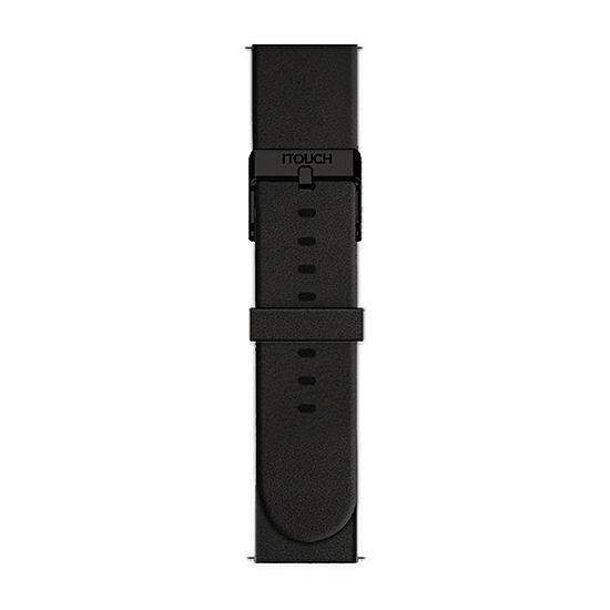 Itouch Sport Mens Black Watch Band-Itspstrrub-003
