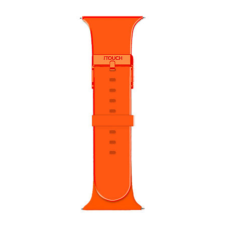 Itouch Sport Mens Orange Watch Band-Itspstrrub-036, One Size , No Color Family