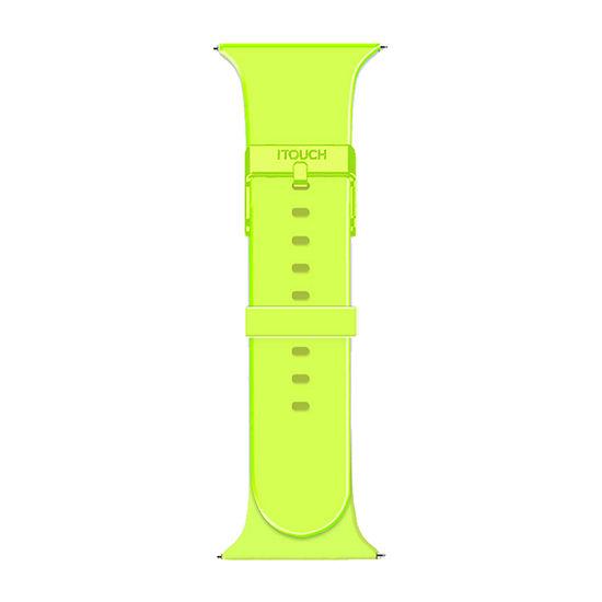 Itouch Sport Womens Green Watch Band-Itspstrrub-184